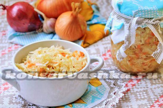 рецепт приготовления квашенной капусты