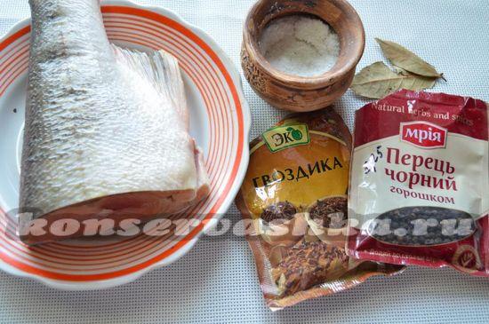Ингредиенты для приготовления соленой красной рыбы