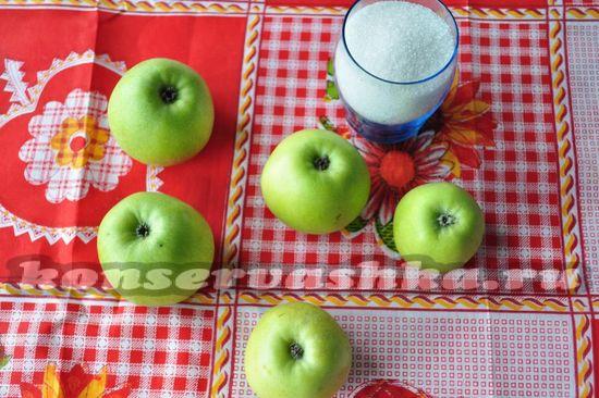 Ингредиенты для яблочного варенья