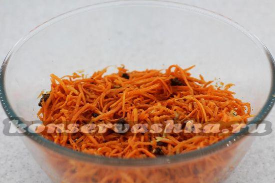 морковь перемешать