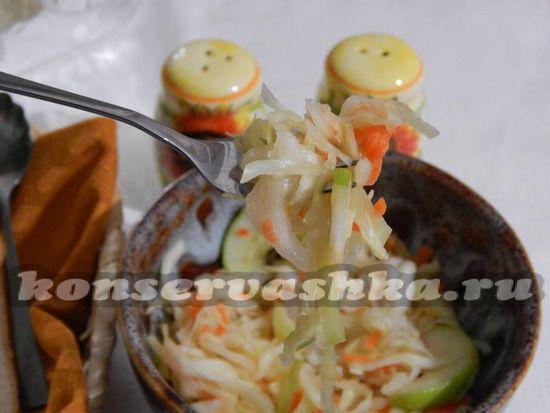 рецепт квашенной капусты с яблоками