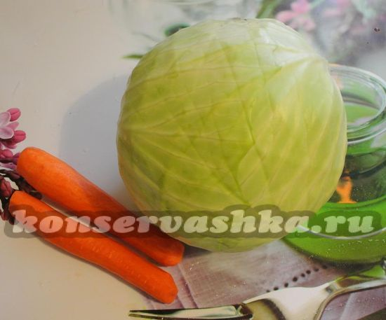 Ингредиенты для приготовления хрустящей квашенной капусты