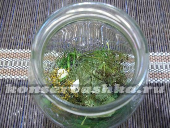 уложить травы и специи