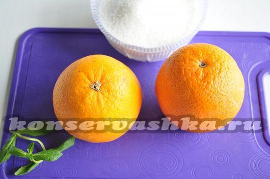 Ингредиенты для приготовления варенья из апельсина
