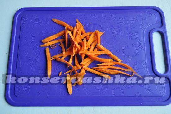 Морковь натрите