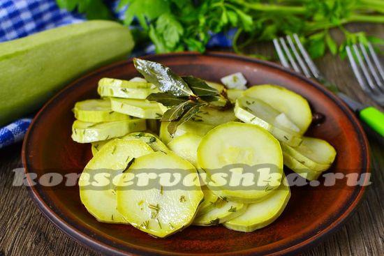 Быстрые маринованные кабачки, рецепт