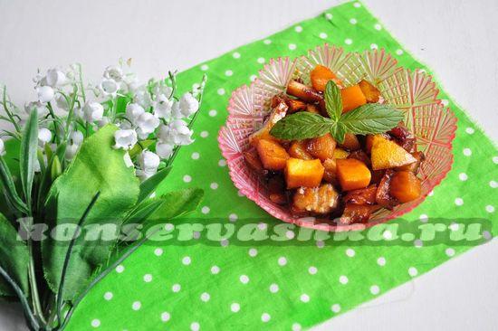 рецепт варенья из тыквы и лимона