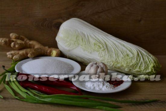 Ингредиенты для приготовления кимчхи