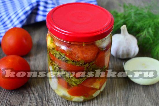 рецепт салата с томатами и петрушкой