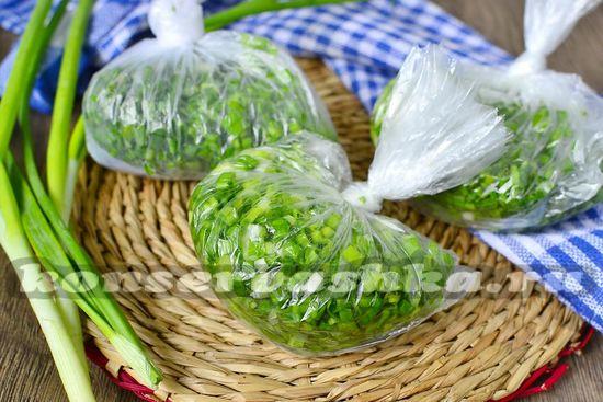 как заморозить зеленый лук