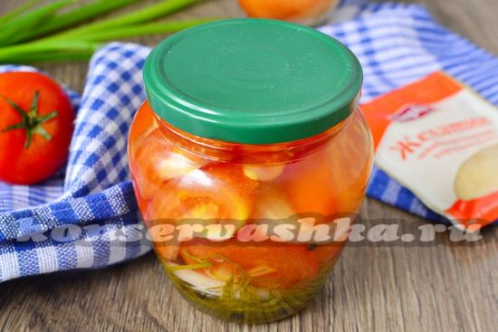 рецепт консервированных резанных помидор
