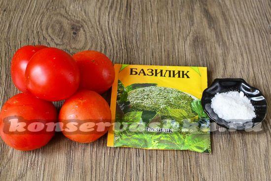 Ингредиенты для приготовления замороженного пюре из томатов