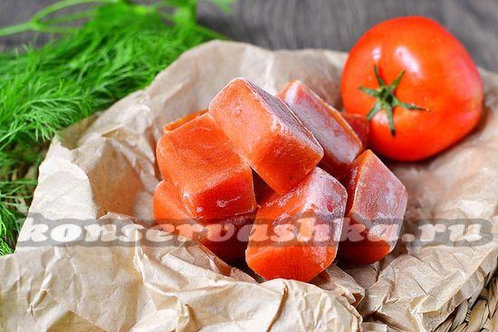 рецепт замороженной томатной пасты