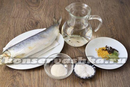 Ингредиенты для засолки сельди