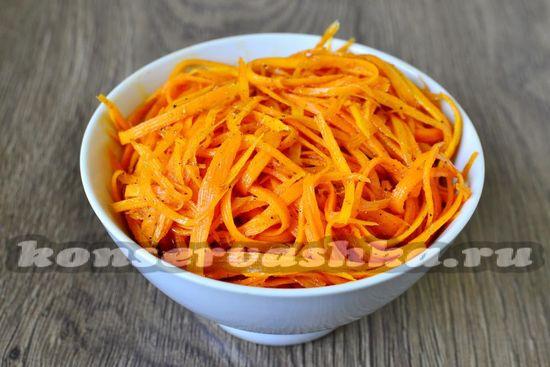 рецепт морковки по-корейски