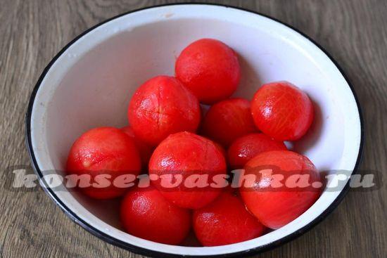 томаты очистить от кожицы