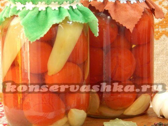 рецепт консервированных помидор с перцем