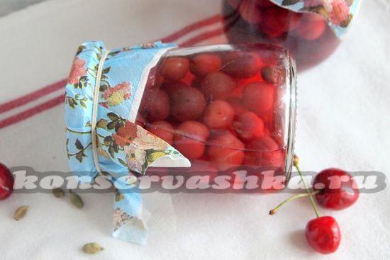 рецепт черешни в сиропе с кардамоном
