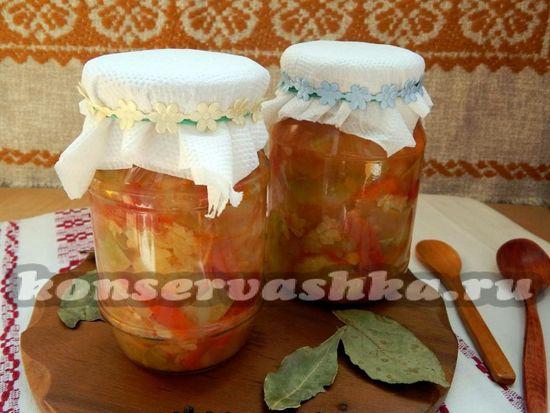Консервированное овощное рагу