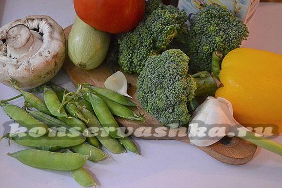 ингредиенты для маринованного ассорти