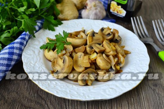 рецепт маринованных грибов