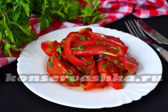 рецепт быстрых маринованных помидор