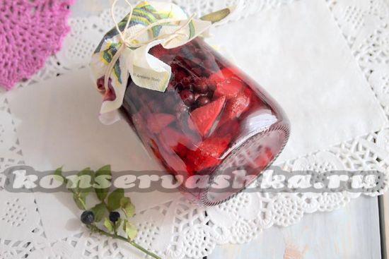рецепт клубники с черникой на зиму