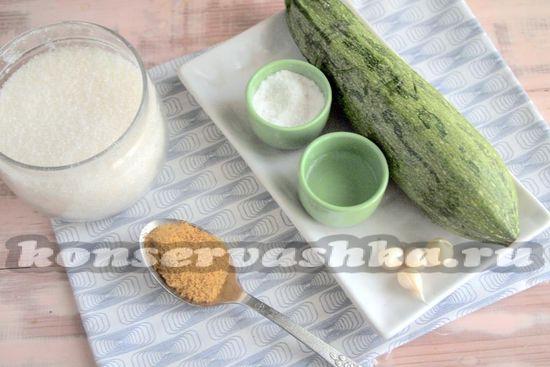 Ингредиенты для приготовления кабачков с горчичным порошком