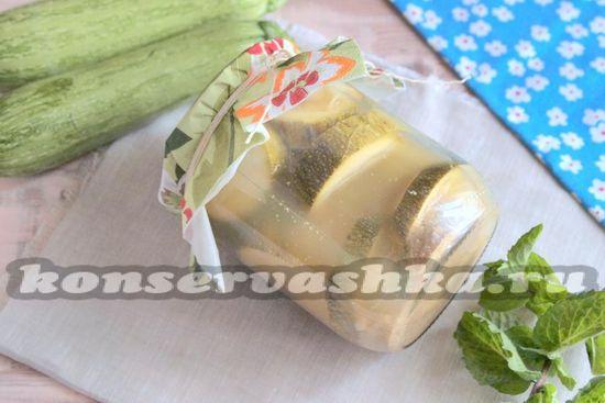 рецепт кабачков на зиму колечками