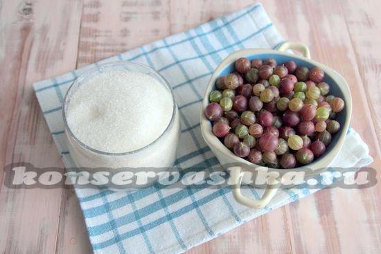 Ингрединты для приготовления варенья из крыжовника