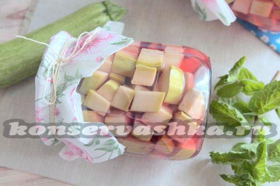 Ингредиенты для приготовления кабачков с вишней