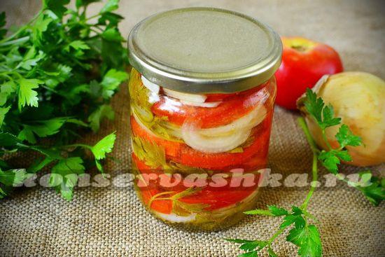 рецепт салата с томатами на зиму