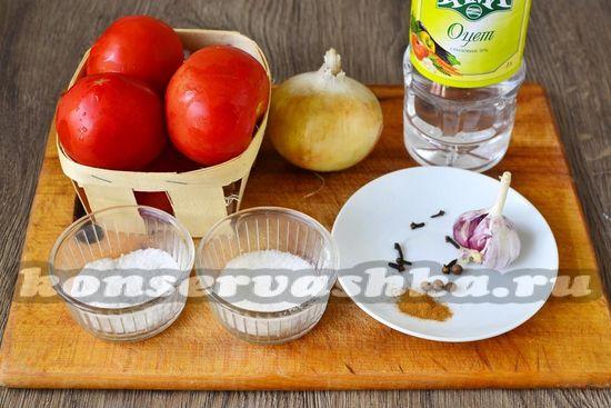 Ингредиенты для приготовления кубанского соуса на зиму
