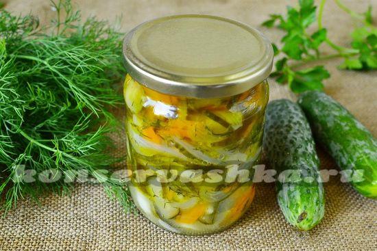 рецепт салата с огурцами и морковью