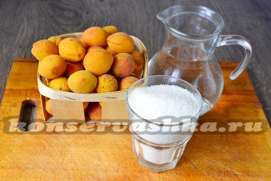 Ингредиенты для приготовления абрикос в сиропе