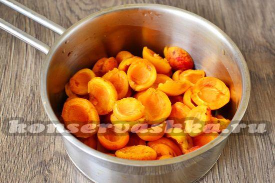 абрикосы очистить от косточек