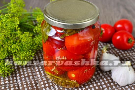 рецепт маринованных помидор на зиму