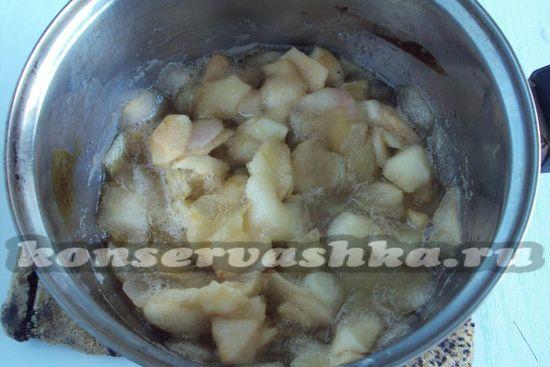 проварим яблоки