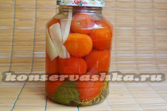 Маринованные помидоры на зиму, рецепт с фото