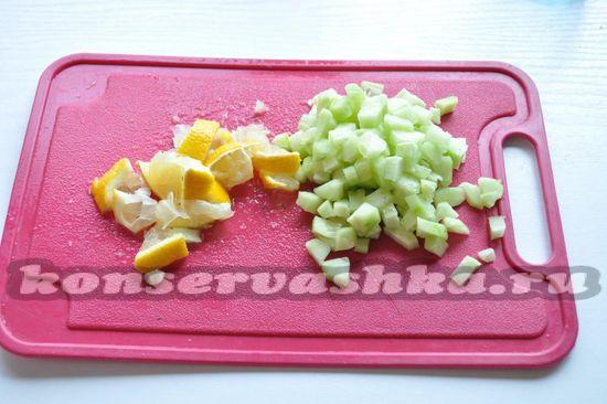 лимон также нарежем