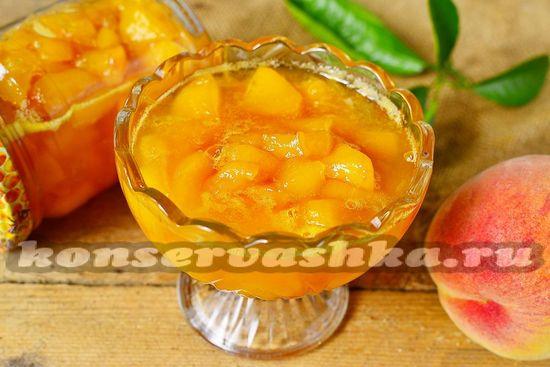 рецепт джема из персиков