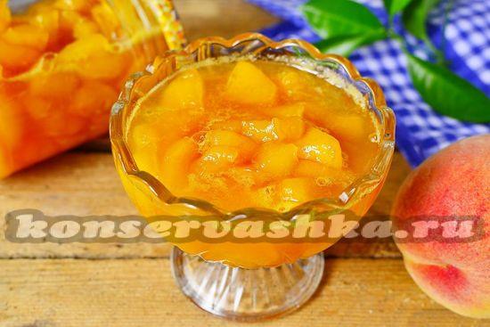 джем из персика и лимонной кислоты
