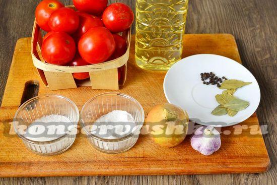 Ингредиенты для приготовления томатного соуса на зиму