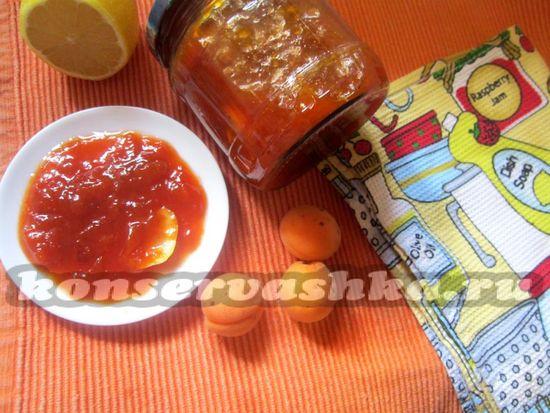 рецепт варенья с абрикосом и лимоном