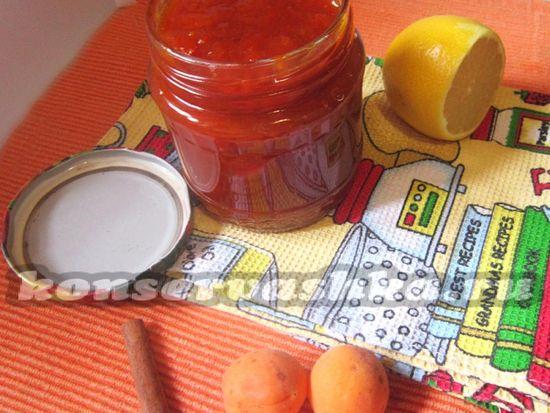 Абрикосовое варенье с корицей и лимоном, рецепт