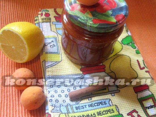 рецепт абрикосового варенья с лимоном и корицей