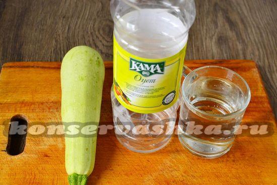 Ингредиенты для приготовления язычков из кабачков