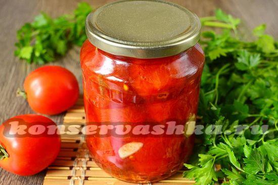 Консервированные жареные помидоры