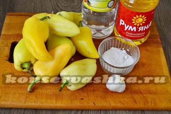 Ингредиенты для приготовления перца