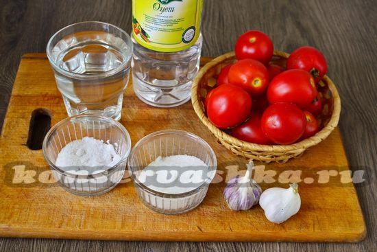 Ингредиенты для приготовления помидор в снегу